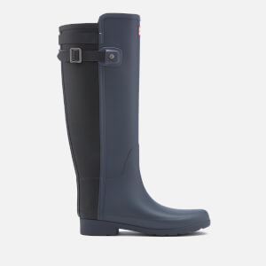 Hunter Women's Original Tall Refined Back Strap Wellies - Dark Slate/Black
