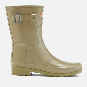 Hunter Women's Original Refined Short Gloss Wellies - Sage
