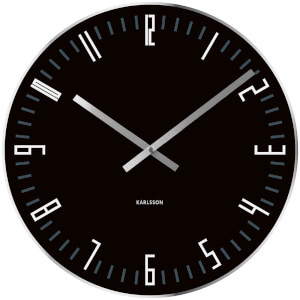 Karlsson Small Slim Index Mirror Edge Wall Clock - Black