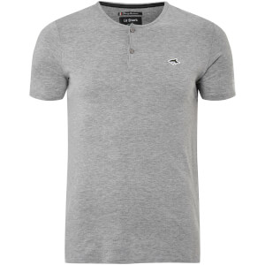 Le Shark Men's Cook Button Neck T-Shirt - Light Grey Marl