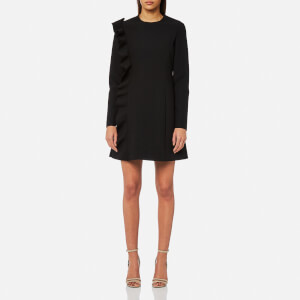 MSGM Women's Mini Dress with Frill - Black