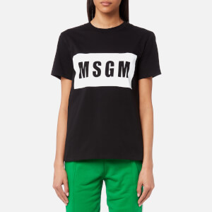 MSGM Women's Logo T-Shirt - Black