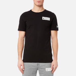 Puma Men's Style Athletic Short Sleeve T-Shirt - Cotton Black