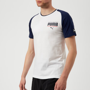 Puma Men's Style Athletic Block Short Sleeve T-Shirt - Puma White