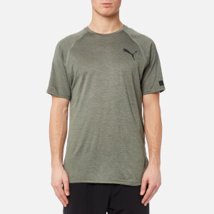 Puma Men's Bonded Tech Short Sleeve T-Shirt - Castor Grey Heather