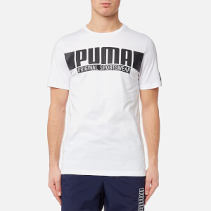 Puma Men's Style Athletic Graphic Short Sleeve T-Shirt - Puma White