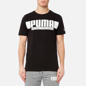 Puma Men's Style Athletic Graphic Short Sleeve T-Shirt - Cotton Black
