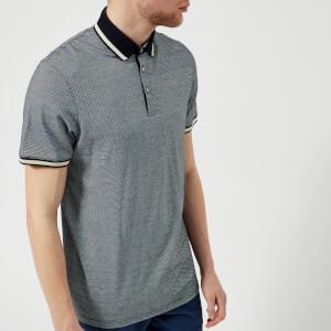 Ted Baker Men's Poodal Stripe Detail Polo Shirt - Navy