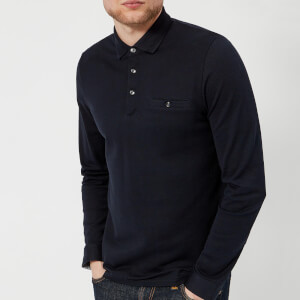 Ted Baker Men's Scooby Long Sleeve Polo Shirt - Navy