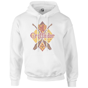Harry Potter Gryffindor White Pullover Hoodie