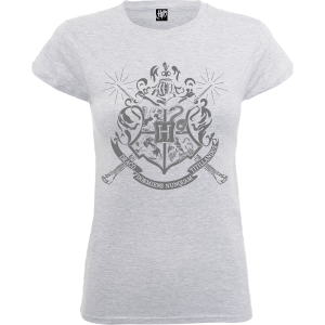 T-Shirt Femme Draco Dormiens Nunquam Titillandus - Harry Potter - Gris