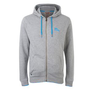 Tokyo Laundry Men's Hanover Zip Through Hoody - Light Grey Marl