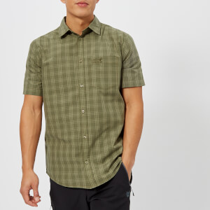 Jack Wolfskin Men's Hot Springs Short Sleeve Shirt - Woodland Green Shirt