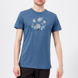 Jack Wolfskin Men's Marble Paw Short Sleeve T-Shirt - Ocean Wave
