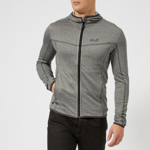Jack Wolfskin Men's Sutherland Fleece Hooded Jacket - Tarmac Grey