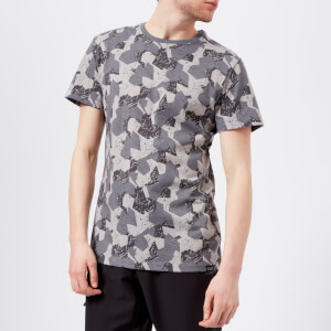 Jack Wolfskin Men's Marble Short Sleeve T-Shirt - Pebble Grey All Over