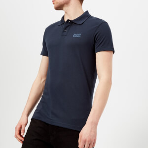 Jack Wolfskin Men's Pique Polo Shirt - Night Blue