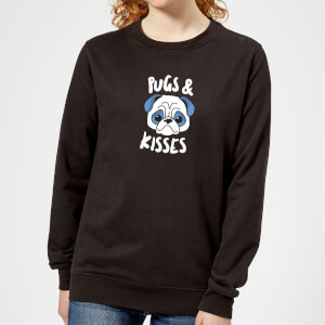Pugs & Kisses Women's Sweatshirt - Black