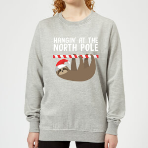 Hangin' At The North Pole Frauen Sweatshirt - Grau