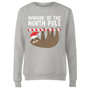 Hangin' At The North Pole Women's Sweatshirt - Grey
