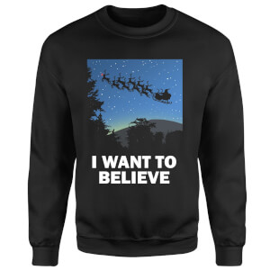 I Want To Believe Sweatshirt - Black