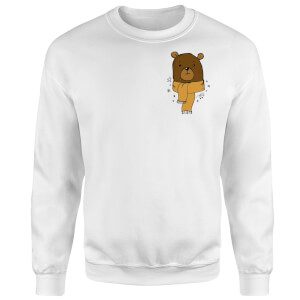 Christmas Bear Pocket Sweatshirt - White