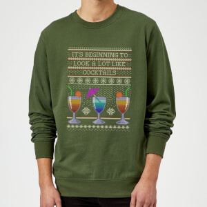 Its Beginning To Look A Lot Like Cocktails Sweatshirt - Grün