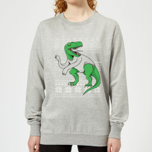 T-Rex Sleeves Women's Sweatshirt - Grey