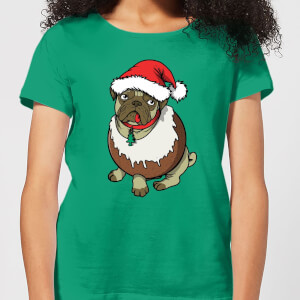 Christmas Puggin Women's T-Shirt - Kelly Green