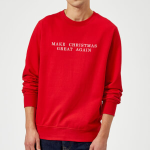Make Christmas Great Again Sweatshirt - Rot