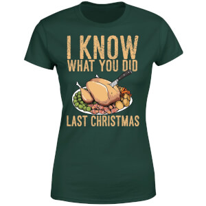 I Know What You Did Last Christmas Women's T-Shirt - Forest Green