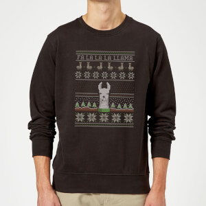 """Sudadera Navidad """"Fa La La La Llama"""" - Hombre - Negro"""