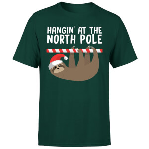 Hangin' At The North Pole T-Shirt - Forest Green