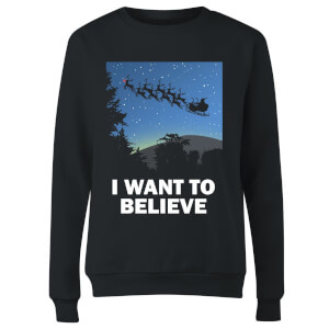 I Want To Believe Women's Sweatshirt - Black