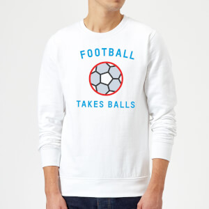 Football Takes Balls Sweatshirt - White