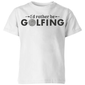 Id rather be Golfing Kids' T-Shirt - White