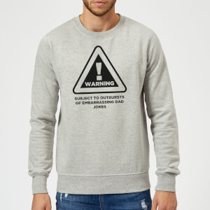 Warning Dad Jokes Sweatshirt - Grey