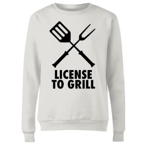 License to Grill Women's Sweatshirt - White