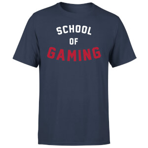 "Camiseta ""School of Gaming"" - Hombre - Azul marino"