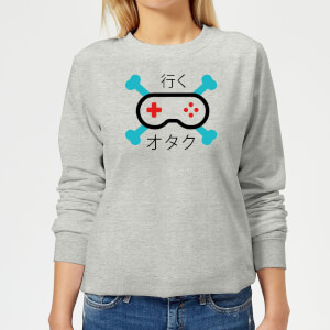 Skull and Cross Bones Controller Women's Sweatshirt - Grey