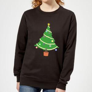 Buttons Tree Women's Sweatshirt - Black