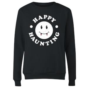 Happy Haunting Women's Sweatshirt - Black