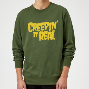 Creepin it Real Sweatshirt - Forest Green