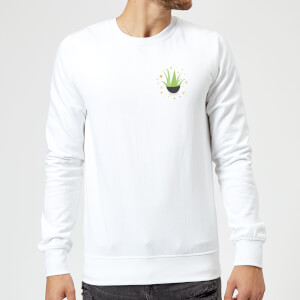 Aloe Vera Sweatshirt - White
