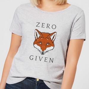 Zero Fox Given Women's T-Shirt - Grey