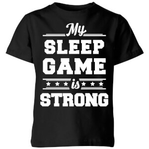 My Little Rascal My Sleep Game is Strong Kids' T-Shirt - Black