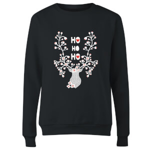 Ho Ho Ho Women's Sweatshirt - Black