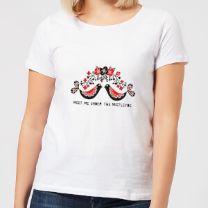 Meet Me Underneath The Mistletoe Women's T-Shirt - White