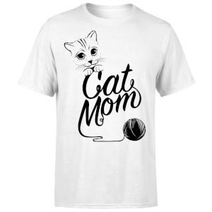 Cat Mom T-Shirt - White