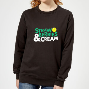 Strawberries and Cream Women's Sweatshirt - Black